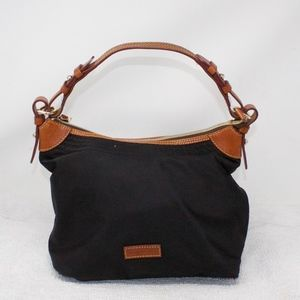 Dooney & Bourke Black Nylon Leather Trim Handbag